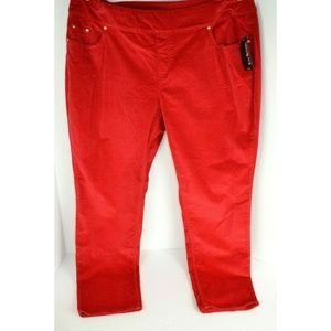 Kim Rogers Plus Size Curvy Pull-On Corduroy Pants